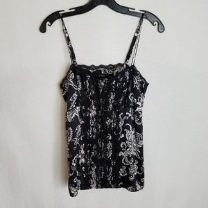 White House Black Market Women's Small Silk Tank